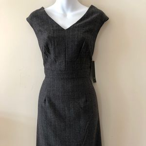 NWT gray herringbone pattern sheath dress